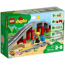 Lego 10872 Duplo Train Bridge and Tracks